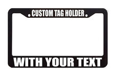 TAG HOLDER CUSTOM TEXT PERSONALIZED CUSTOMIZED License Plate Frame Decal Sticker