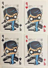 NightWing Set of 4 Funko Pop DC Comic Playing Cards - Ace, Queen, King, Jack