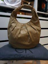 Original CALVIN KLEIN Tasche Schultertasche beige Handtasche bag CK