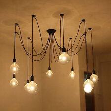 Retro 8 Heads Ajustable DIY Ceiling Spider Lamp Light Pendant Lighting Edison UK