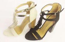 Block Heel Spot On Textile Shoes for Women