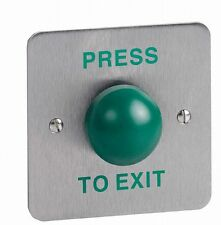 Heavy Duty Green Dome Door Press to Exit PTE Switch