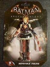 Harley Quinn Batman ARKHAM KNIGHT DC Comics Bendable Figure PVC Gun & Bat NEW