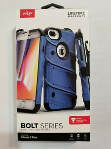 For Apple iPhone 7 Plus BOLT SERIES Case Shockproof Cover Blue New Open box