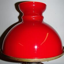 RED LAMP SHADE GLOBE RAYO STYLE OIL KERO CASED GLASS VIANNE FRANCE