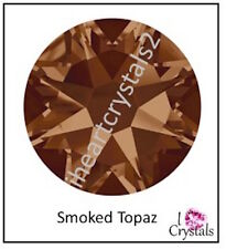 SMOKED TOPAZ 20ss 5mm 12 pieces SWAROVSKI Flatback Crystal Rhinestones 2088