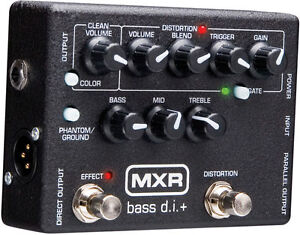 Used MXR M80 Bass DI Direct Box Distortion Preamp Bass Guitar Effects Pedal