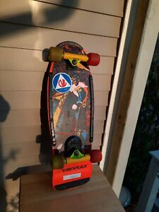 Vintage Variflex Outer Limits Skateboard With Powell Peralta Bones Threes Wheels
