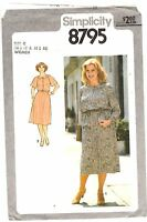 Vtg 1970s Simplicity Sewing Pattern Womens 2 PC DRESS 8795 Plus Size 40-46 UNCUT