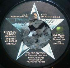 "*<* BEATLES' RINGO STARR's 1973 #1 HIT ""YOU'RE SIXTEEN"" CLEAN M- GEM APPLE 45!"