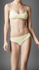 BNWT Beautiful Designer Ladies BURBERRY Striped Bikini Set  Size L