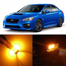 Alla Front Turn Signal Light Amber LED Bulbs for 2008~14 Subaru Impreza WRX STI
