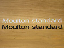 2 Moulton Standard Stickers Decals bike Black White Vintage Cycling Frame Vinyl