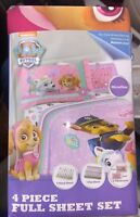 PAW Patrol Girls Pup Pals Full Sheet Twin Sheet  toddler bed crib by 19th 4xmas