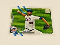 2021 Topps Baseball League Leaders #170 - Jacob deGrom - New York Mets