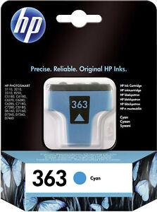 Original HP 363 cyan C8771E PHOTOSMART 3110 3210 3310 8250 C5180 OVP 10/2015
