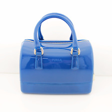 FURLA Handbag Bluette Blue Candy Jelly Purse Bag $278 - NWT
