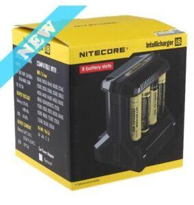 Nitecor i8 8 bay Intelligent Universal Battery Charger Li-ion AA AAA 18650 NIMH
