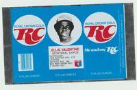 1977 Ellis Valentine RC Cola can flat Montreal Expos