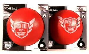 2 Ct Franklin Future Champs Official Super Skin 6 In Red Doge Ball Age 3 & Up