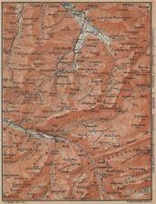 Muotathal pragel & Sihltal. Silbern liedernen (kaiserstock) IBERG 1907 Old map
