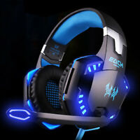Gaming Headset Mic Stereo Headphone 3.5mm Wired For PS4 Xbox One PC