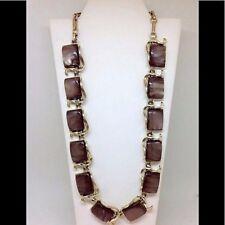 Vintage CORO Necklace Purple Thermoset Stones STUNNING