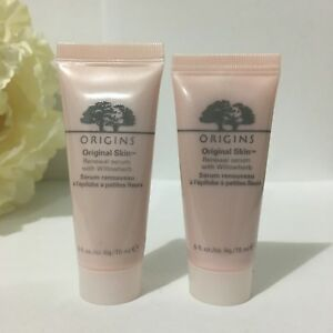 2 NEW Origins Original Skin Renewal Serum with Willowherb 0.5oz / 15ml Each