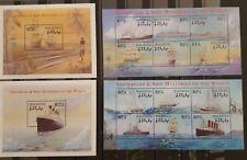 C44.Briefmarken Schiffe 2001 Maledives 2Bl.+2Kb.,postfrisch