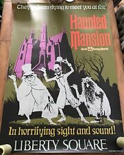 """ATTRACTION POSTER 36x54"""" WDW Magic Kingdom Haunted Mansion RARE full size prop"""