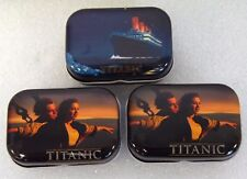 Lot of 3 SMS Titanic Movie Leo Dicaprio Winslet Advertising Pill Trinket Boxes