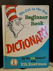 Vintage 1964 Dr Seuss The Cat in the Hat DICTIONARY Beginner Book 1992 Revision