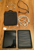 iPad 1st generation 32 GB WiFi (MB293LL) plus Silicone case, Zip Case, Cables