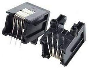 Socket RJ11 RJ12 Jack 6P6C part 215876-1 Right Angle Unshielded RJ14 RJ25 x 1pc