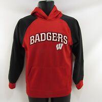 Wisconsin Badgers Adidas Hoodie Youth Size L 14-16 Kids Large Hooded Sweatshirt