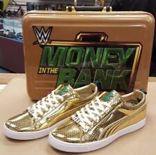 Puma Clyde x WWE Money In the Bank Gold Sneakers Shoes Limited 100 Pairs NEW 10
