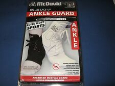 McDavid Deluxe lace up Ankle Guard A101 Extra Small white XSM Mc David brace XS