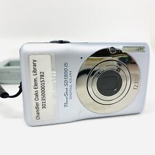 Canon PowerShot Digital ELPH SD1300 IS 12.1 MP Digital Camera Silver SD Charger
