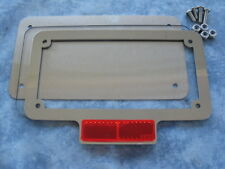 Motorcycle number plate frame / surround, clear lens & back plate.
