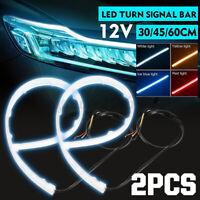 Car Turn Signal LED Strip Light Indicator Daytime Running Lamp Flexible Tube DR