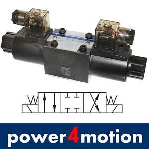 4/3 Wegeventil  Magnetventil 12V, Hydraulik, NG06 Cetop3 P-T-A-B geschlossen