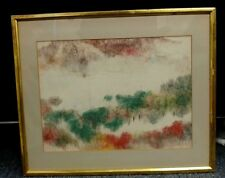 """Listed Chinese Artist PANG TSENG YING Original Signed Gouache Watercolor  11x15"""""""