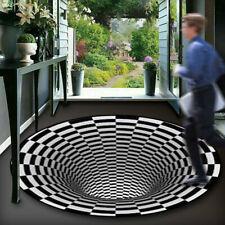 🔥3D Printed Round Vortex Illusion Anti-slip Living Room Rug Carpet Floor Mat