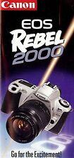 CANON EOS REBEL 2000 SLR 35mm CAMERA BROCHURE -CANON-from 1990s