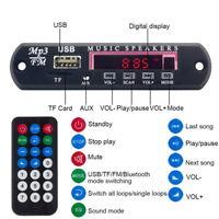 USB Remote Car Bluetooth Wireless MP3 Decoder Board Audio Module  TF FM Radio