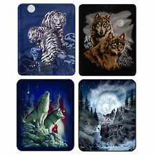 Faux Fur Luxury Blanket Soft Plush Cozy Queen Blanket Warm Wildlife Animals $99