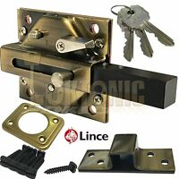 Lince Lock High Security Heavy Duty Garden Side Gate Shed Garage Sliding Bolt