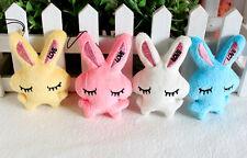2Pcs Kids Baby Plush Toy Cartoon Rabbit Lovely Squinting Bowkot Stuffed Toys