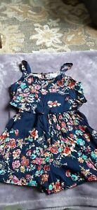 Girls Justice Jumper Navy Floral Size 10.