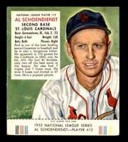 1953 Red Man NL w Tab #12 Red Schoendienst  VG J1576494